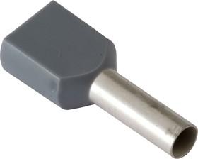 1-966144-0 (DTE04012), Наконечник 2 х 4.0мм2 серый