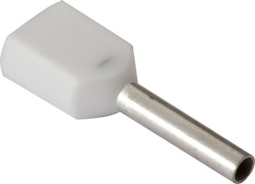 966144-1 (DTE00508), Наконечник 2 х 0.5мм2 белый