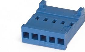 Фото 1/2 281838-5, Розетка 5 контактов на кабель 2.54 мм без контактов AMPMODU