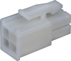 Фото 1/5 172167-1, Корпус разъема Mini-Universal MATE-N-LOK, вилка 4PIN без контактов (Plug)