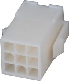 172161-1 (MF-3x3 F), Корпус разъема Mini-Universal MATE-N-LOK, розетка 9PIN без контактов (Housing)