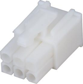 172168-1 (MF-2x3 F), Разъем Mini-Universal MATE-N-LOK, розетка 6PIN без контактов