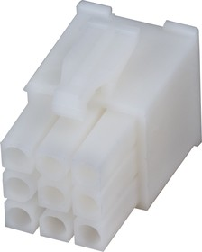 Фото 1/4 172169-1, Корпус разъема Mini-Universal MATE-N-LOK, вилка 9PIN без контактов (Plug)