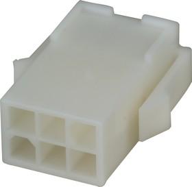 172160-1 (MF-2x3 М), Корпус разъема Mini-Universal MATE-N-LOK, вилка 6PIN без контактов