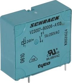 7-1393215-9 (V23057B6A102), Реле 24VDC 1зам. 5A/250VAC