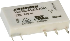 Фото 1/2 2-1393236-4 (V23092A1024A301), Реле 24VDC 1пер. 6A/250VAC