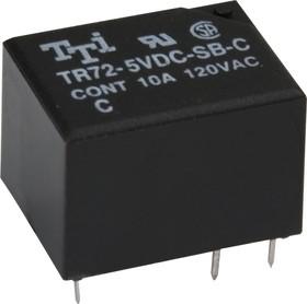 TR72-5VDC-SC-C, Реле 1пер. 5V / 10A, 120VAC