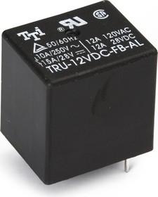 TRU-12VDC-FB (SC)-AL, Реле 1зам. 12V / 10A, 240VAC
