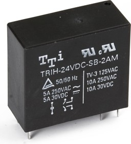 TRIH-24VDC-SD-2AM-R, Реле 2зам. 24V / 10А250VAC