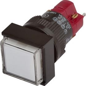 Фото 1/2 D16LMS1-1abKW, Кнопка без фиксации (5A 250VAC), LED подсветка 24VDC