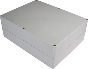 Фото 1/3 G2038, Корпус для РЭА 300х230х111мм, пластик, светло-серый