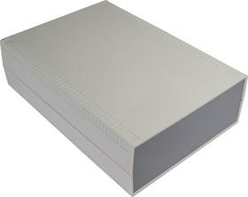 Фото 1/3 G771, Корпус для РЭА 200х280х80 мм, пластик, светло-серый, темно-серая панель