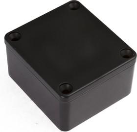 Фото 1/2 G104P(BK), Корпус для РЭА 64x58x35мм, металл, герметичный, черный