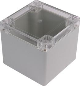 G2102С, Корпус для РЭА 100х100х90мм, пластик, с прозрачной крышкой