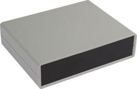 Фото 1/3 G738, Корпус для РЭА 140х110х35 мм, пластик, светло-серый, черная панель