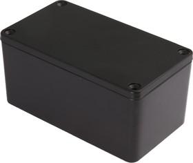 G111P(BK), Корпус для РЭА 115x65x55мм черный, металл, герметичный, черный
