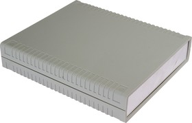 G763A, Корпус для РЭА 156х180х36 мм, пластик, светло-серый, алюминиевая панель