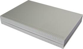 G769, Корпус для РЭА 200х280х40 мм, пластик, светло-серый, темно-серая панель