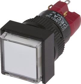 Фото 1/2 D16LMS1-1abHW, Кнопка с LED подсветкой 250В/5А