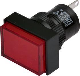 Фото 1/2 D16PLT1-000GR, Индикатор красный 220В/неон