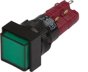 D16LMS1-2abCG, Кнопка с подсветкой 250В/5А