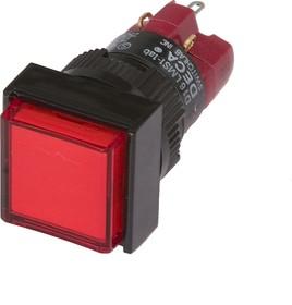 D16LMS1-1ab0R (без лампы), Кнопка без фиксации (5A 250VAC), без подсветки