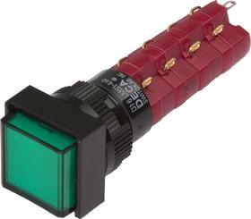 Фото 1/2 D16LMS1-4abKG, Кнопка с LED подсветкой 250В/5А