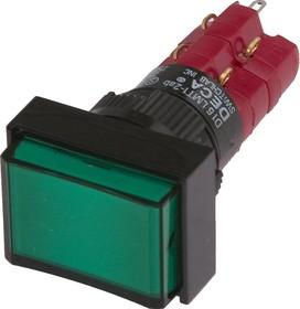 D16LAT1-2abKG, Кнопка с фиксацией / LED 250В/5А