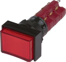 Фото 1/2 D16LAT1-3abKR, Кнопка с фиксацией (5A 250VAC), LED подсветка 24VDC