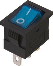 MIRS-101A-2C3 (синий), Переключатель с подсветкой ON-OFF (10A 125VAC, 6.5A 250VAC, 15A 12VDC) SPST 3P
