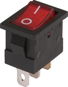 MIRS-101A-2C3 (красный), Переключатель с подсветкой ON-OFF (13A 125VAC, 6,5A 250VAC, 15A 12VDC) SPST 3P