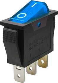 Фото 1/2 IRS-101-1A3 (синий), Переключатель с подсветкой ON-OFF (15A 250VAC) SPST 3P