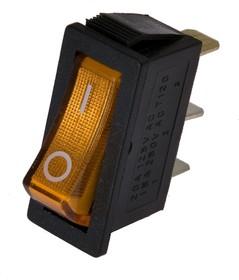 IRS-101-3C3 (желтый), Переключатель с подсветкой ON-OFF (15A 250VAC) SPST 3P
