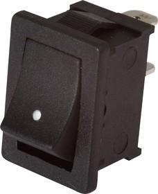 MRS-111A-C2, Переключатель черный (ON)-OFF (6A 250VAC) SPST 2P