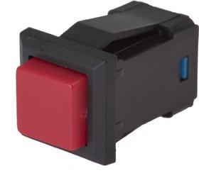 PBS-15A red, Кнопка квадратная с фиксацией ON-OFF (1A 250VAC), красная