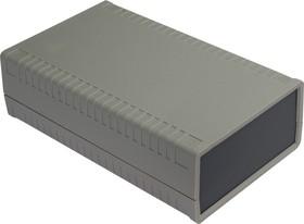 G761, Корпус для РЭА 95х158х47 мм, пластик, светло-серый, темно-серая панель