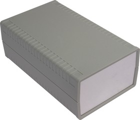 G762A, Корпус для РЭА 95х158х58 мм, пластик, светло-серый, алюминиевая панель
