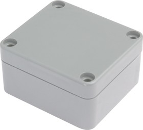 Фото 1/6 G201, Корпус для РЭА 64х58х35 мм, пластик, светло-серый