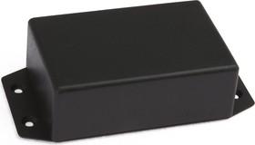 Фото 1/3 G1020BF, Корпус для РЭА 108.5х54х30мм, пластик, черный с крепежным фланцем