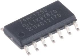 Фото 1/3 74HC125D.652, IC: цифровая; 3 состояния,буфер,драйвер линии; Каналы: 4; SMD