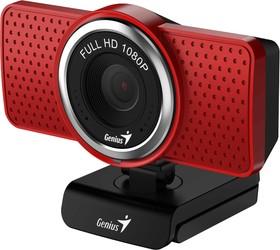 Фото 1/2 32200001401, Интернет-камера Genius ECam 8000 красная (Red)