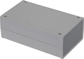 G762, Корпус для РЭА 95х158х58 мм, пластик, светло-серый, темно-серая панель