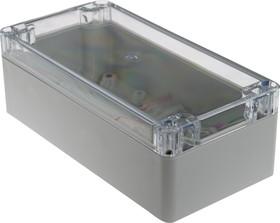 Фото 1/3 G258C, Корпус для РЭА 160х80х55мм, пластик, с прозрачной крышкой