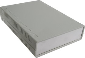 G766A, Корпус для РЭА 140х190х40мм, пластик, светло-серый, алюминиевая панель