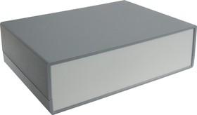 Фото 1/2 G716, Корпус для РЭА 225х165х65мм, пластик, темно-серый, светло-серая панель