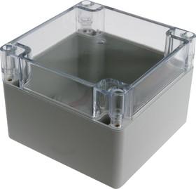 G279C, Корпус для РЭА 120х120х90мм, пластик, с прозрачной крышкой