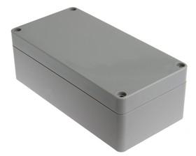 Фото 1/3 G258, Корпус для РЭА 160х80х55 мм, пластик, светло-серый