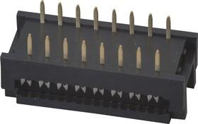 Фото 1/2 DIP-16 (DS1019-16N), Разъем узкий DIP на шлейф 16 контактов