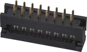 DS1018-16 SIBX (FDC-16), Вилка на плату 2,54мм 16 pin на шлейф (шаг 1.27 мм)