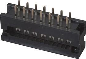 DS1018-14 SIBX (FDC-14), Вилка на плату 2,54мм 14 pin на шлейф (шаг 1.27 мм)